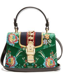 Sylvie Mini Floral-jacquard Shoulder Bag