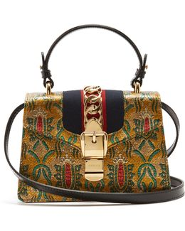 Sylvie Mini Brocade Shoulder Bag