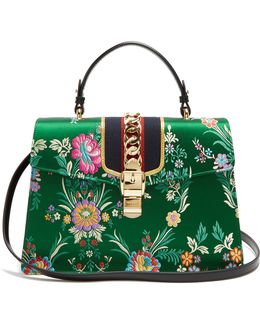 Sylvie Floral-jacquard Shoulder Bag