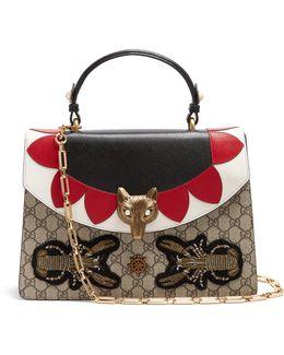 Broche Gg Supreme Leather Shoulder Bag