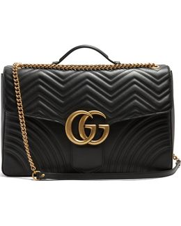 Gg Marmont Maxi Quilted-leather Shoulder Bag
