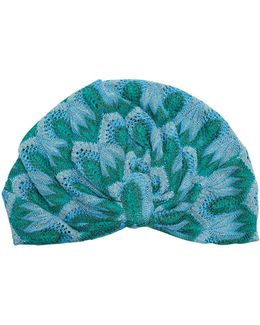 Embroidered Knitted Turban