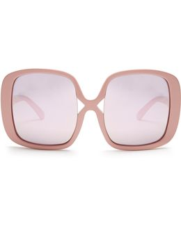 Marques Oversized Mirrorred Sunglasses