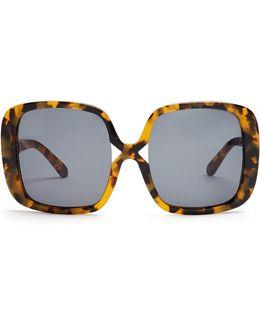 Marques Oversized Tortoiseshell Sunglasses