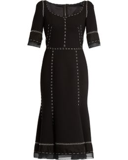 Whipstitched Wool-blend Cady Dress