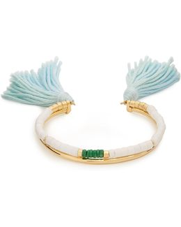 Sioux Gold-plated Tassel Cuff