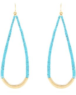 Turquoise And Gold-plated Drop Earrings