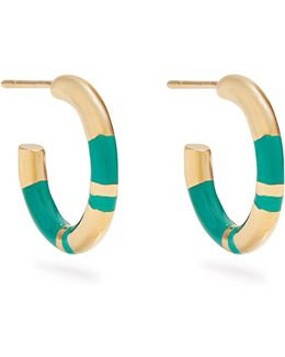 Positano Gold-plated Hoop Earrings