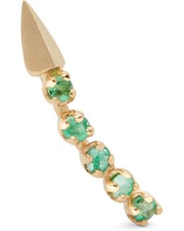 Emerald & Yellow-gold Earring