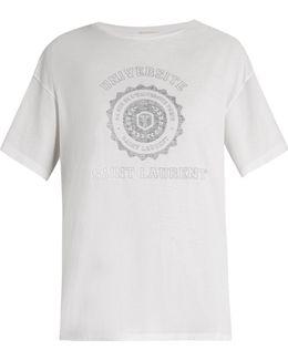 Université-print Cotton-jersey T-shirt