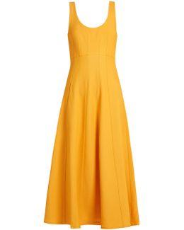 Scoop-neck A-line Knit Dress