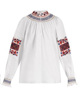 Cora Embroidered Cotton Top