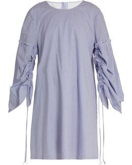 Elliot Round-neck Striped Cotton Dress