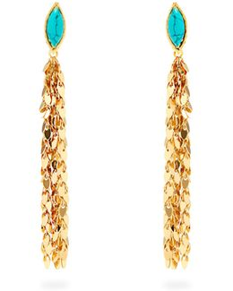 Leaves Clip-on Drop Earrings