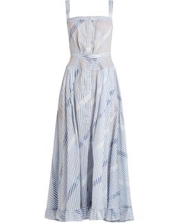 Rosanna Striped Cotton-voile Dress