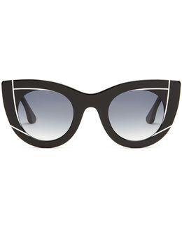 Wavvvy Cat-eye Acetate Sunglasses