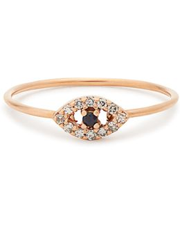 Diamond, Sapphire & Rose-gold Ring