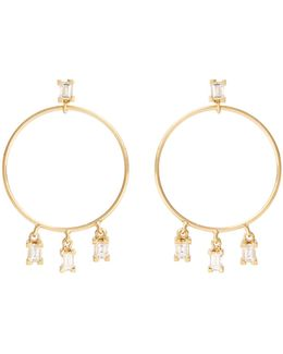 Diamond & Yellow-gold Earrings