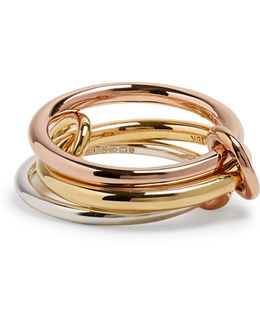 Raneth Silver, Yellow And Rose-gold Ring