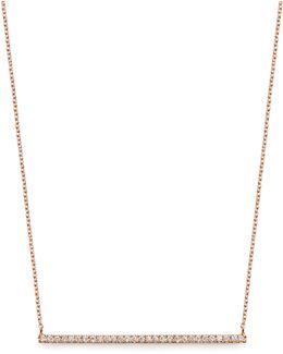 Diamond & Rose-gold Bar Necklace