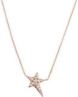 Diamond & Rose-gold Star Necklace