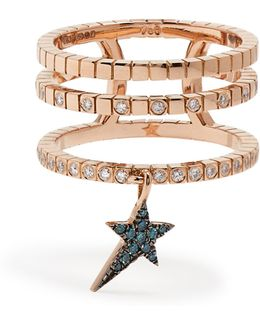 Diamond & Rose-gold Cosmos Ring