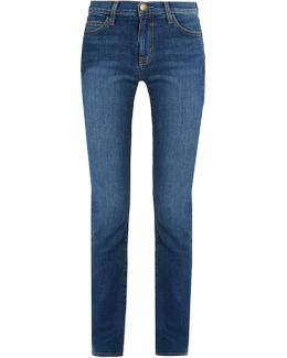 The Slim Straight Mid-rise Jeans