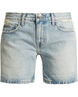 The Rolled Boyfriend Mid-rise Shorts