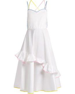Ric-rac Trim Stretch-cotton Dress