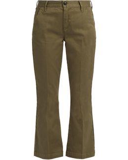 Le Crop Mini Boot Stretch-cotton Trousers