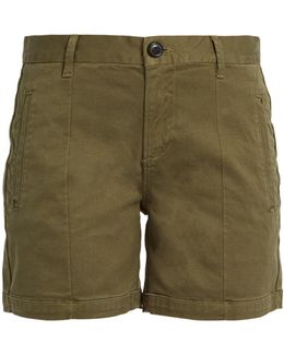 Le Cuffed Mid-rise Stretch-cotton Shorts