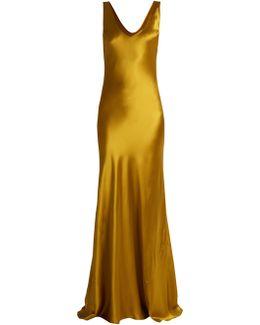 Valletta Silk-satin Slip Dress