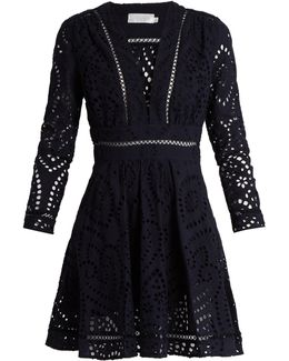 Ryker Broderie-anglaise Cotton Dress
