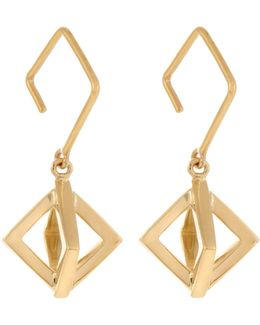 Axis Small Yellow-gold Earrings