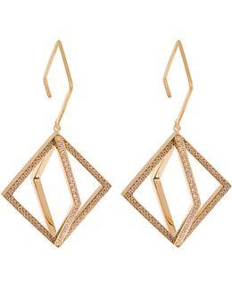 Axis Diamond & Yellow-gold Earrings
