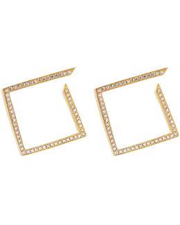 White Light Diamond & Yellow-gold Earrings