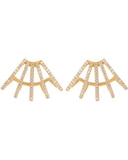Circuit Diamond & Yellow-gold Earrings