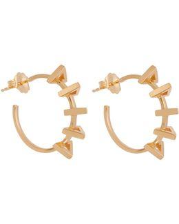 Circuit Yellow-gold Earrings