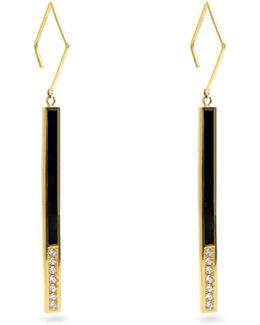 Eclipse Diamond, Enamel & Yellow-gold Earrings