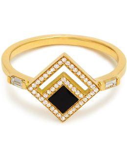 Eclipse Diamond, Enamel & Yellow-gold Ring