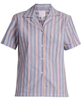 Logica Striped Cotton-poplin Shirt