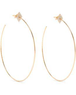 Diamond & Rose-gold Earrings