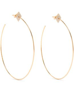 Diamond & Rose-gold Earrings