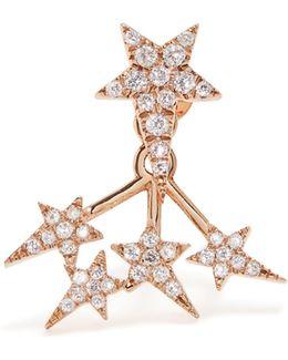 Diamond & Rose-gold Star Earring