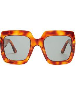 Oversized Square-frame Sunglasses