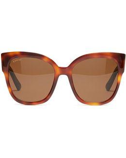 Oversized Cat-eye Frame Sunglasses