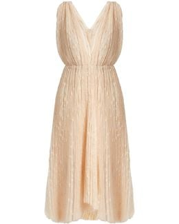 Eudora V-neck Star-embroidered Tulle Dress