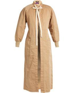 Oversized Open-front Coat