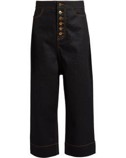 Maggier High-rise Wide-leg Cropped Jeans