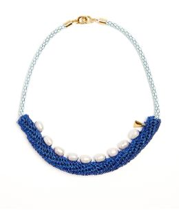 Pearler Pearl And Crochet Necklace